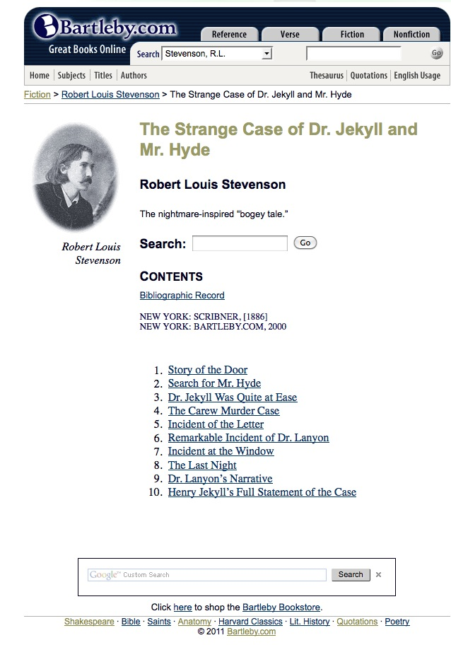 The Strange Case of Dr. Jekyll and Mr. Hyde | Recurso educativo 42416