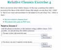 Relative clauses | Recurso educativo 59811