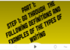 Types of writing | Recurso educativo 24594