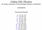 Website: ESL phonics worksheets | Recurso educativo 31926