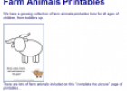 Farm animals printables | Recurso educativo 75490